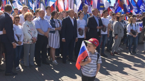 Митинг ко Дню России собрал девять тысяч саратовцев