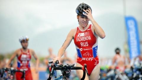 Саратовская триатлонистка одержала первую победу после рождения сына