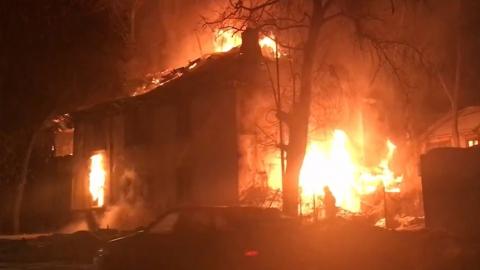 Пожар в Заводском районе: сгорел склад площадью 3000 кв. метров