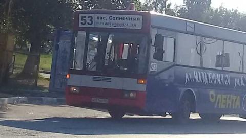 В Саратове попал в аварию автобус 53 маршрута