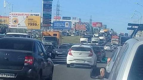 В Саратове заблокирован выезд из города