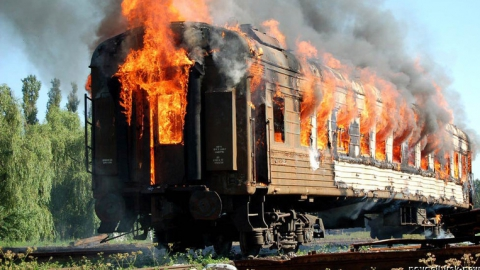 На станции Анисовка горел вагон поезда