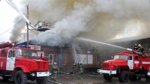 Вчера в Заводском районе горел магазин