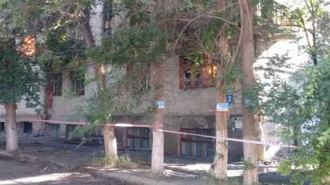 Пожар в Заводском районе. Горит дом на улице Энергетиков