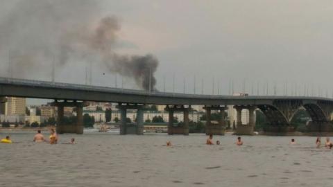 В Волжском районе Саратова произошел крупный пожар
