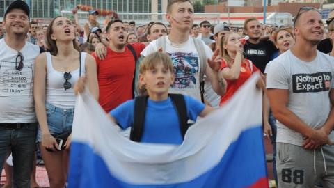 Саратовцы пришли поболеть за сборную России в матче против Испании