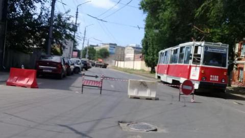 В Саратове из-за дорожных работ перекрыли улицу Степана Разина