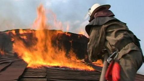 В селе Быков Отрог сгорел производственный цех