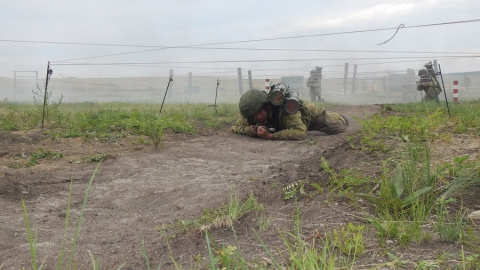 """В Шиханах огнеметчики уничтожили укрытия """"боевиков"""""""