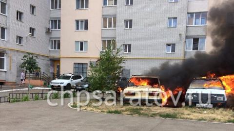 В Кировском районе сгорели две легковушки