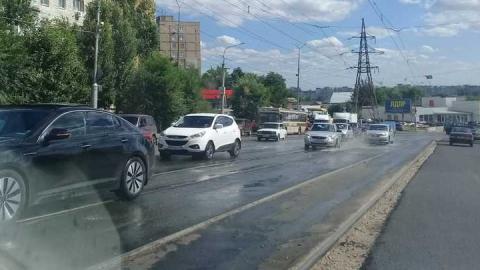 В Саратове залило улицу Танкистов
