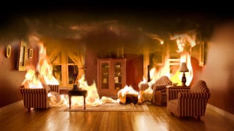 В Березовке горела квартира на площади 100 кв. метров
