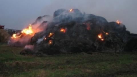 Ночью в селе Никольевка сгорела скирда сена