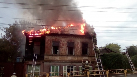 Площадь пожара в доме №13 по Большой Горной составила 71 кв. метр