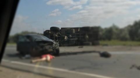 """В аварии с """"КамАЗом"""" у Клещевки погибли три человека"""