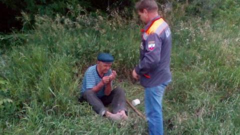 Спасатели помогли вернуться домой заблудившемуся пенсионеру