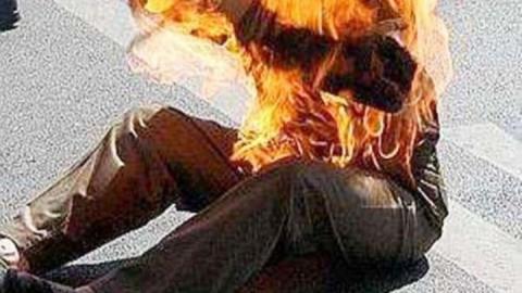 В Балакове на человеке загорелась одежда