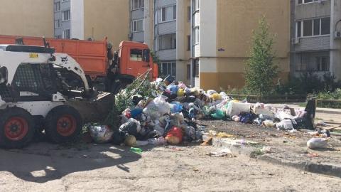 Зачищена стихийная свалка ТКО в поселке Солнечный
