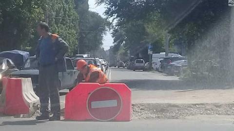 В Саратове перекрыта улица Рабочая