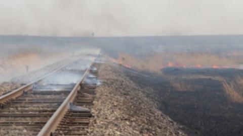В Саратовской области горели шпалы