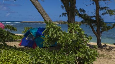Студент и безработный украли у туристов на острове палатку