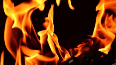 Пожар в Заводском. Горел нежилой дом на Иртышской