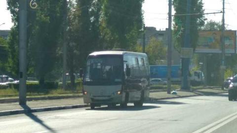 Попал в аварию автобус 75-го маршрута