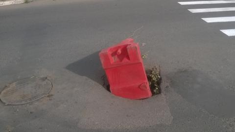Саратовцы предупреждают об опасном люке в Ленинском районе