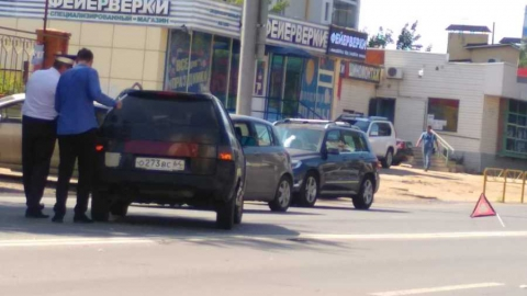Авария блокировала движение у горпарка