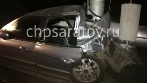 Трое пьяных на «Hyundai» врезались в столб