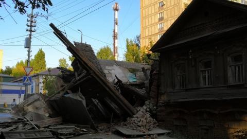 В центре Саратова обрушился дом
