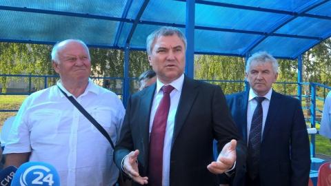 Вячеслав Володин осмотрел новый спорткомплекс открытого типа в Романовском районе