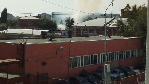 В центре Саратова пожар на Университетской