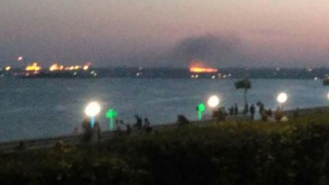 В Саратове крупный пожар в Заводском районе