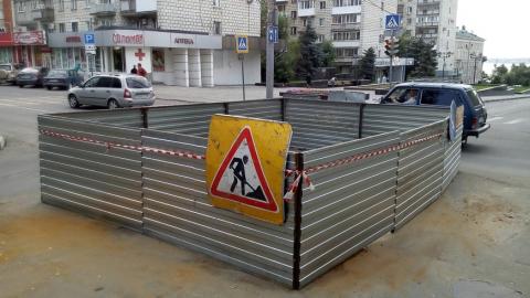 Работы по реконструкции магистрального водовода по ул. Чернышевского проходили в выходные дни