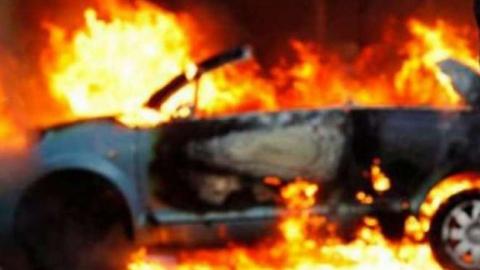 В Первомайском сгорел «Mitsubishi ASX»