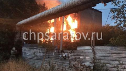 Пожар в Заводском районе. Горит многоквартирный дом