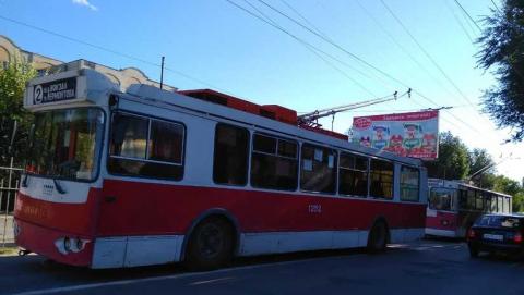 В Саратове встали троллейбусы 16-го маршрута