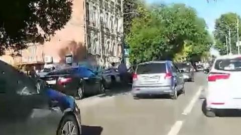 На Чернышевского столкнулись Hyundai и Toyota