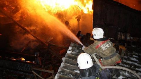 Пожар в Заводском. Горел дом на улице Заречной