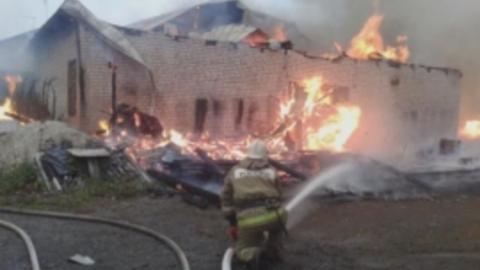 В Саратове сгорел цех по выращиванию грибов