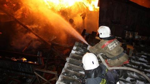 В Вольском районе сгорел частный дом