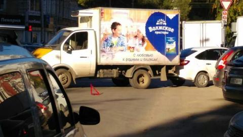 На Белоглинской столкнулись грузовая «ГАЗель» и легковушка