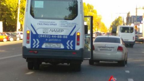 На Чернышевского произошло ДТП с участием маршрутной Газели
