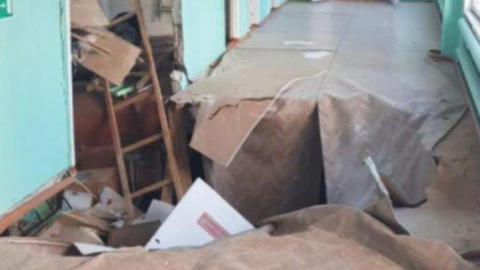 Обрушение пола в школе села Урусово