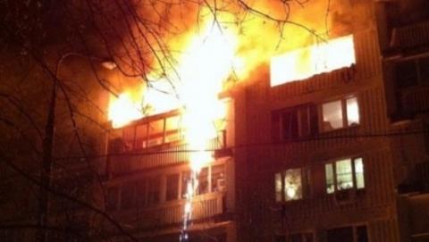 Ночью в Заводском районе огнеборцы тушили пожар на площади 500 кв. метров