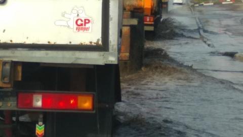 На Шехурдина образовался потоп из-за коммунальной аварии