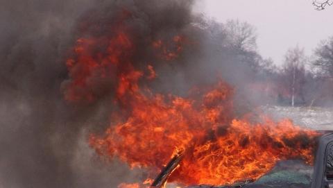 У рынка «Солнечный» сгорел легковой автомобиль