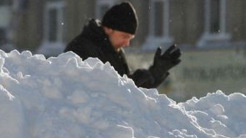 В Саратов приходит настоящий снег