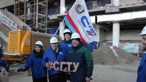 Политеховцы посетили строящийся аэропорт «Гагарин»